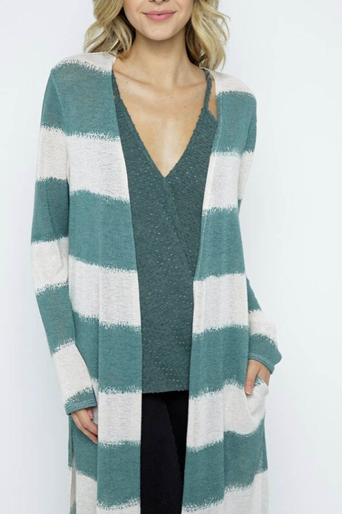 Striped Maxi Cardigan