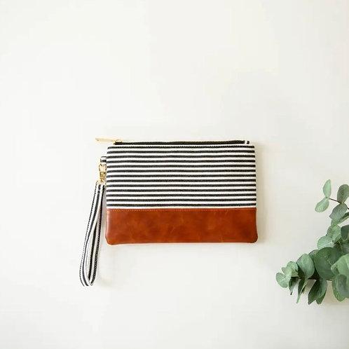 Classic Stripe Wristlet
