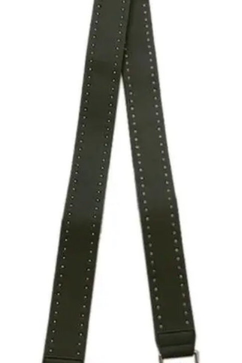 """2"""" Faux Leather Stud Strap (non-adjustable, color options available)"""