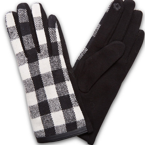 Buffalo Check Screentouch Gloves