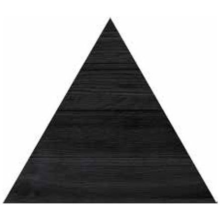 TRIANGOLO BLACK 300X260mm - Thickness 14mm