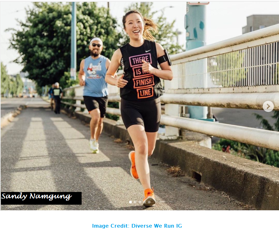 Asian Female Runner Inclusion Running Form