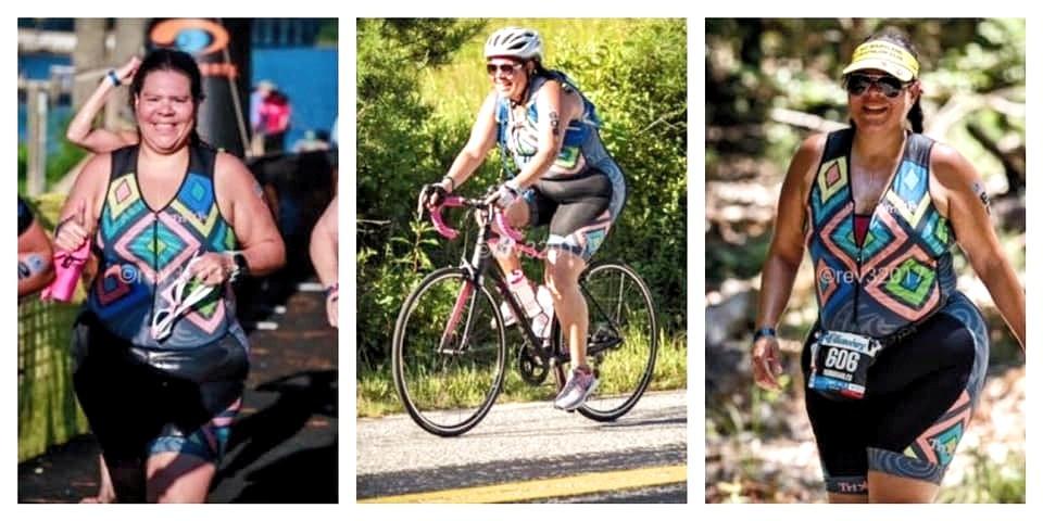 Triathlete Swim Bike Run Race Photos