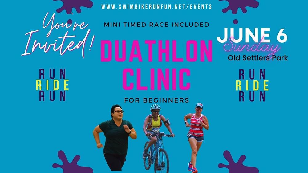 Duathletes Running Biking Duathlon Clinic