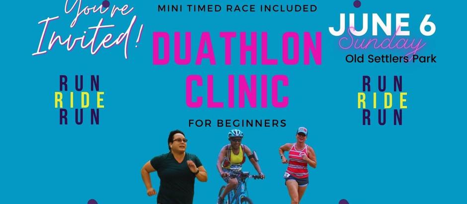 Beginner Duathlon & Transition Clinic +5k Event