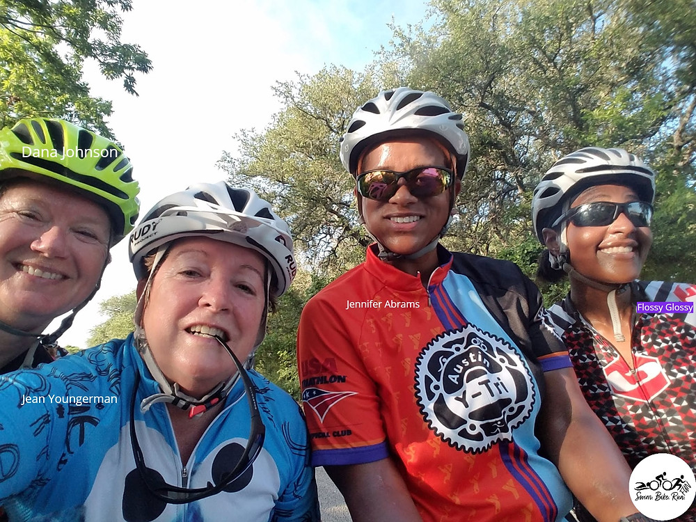 Female Triathletes Tri Club Group Cycling Training Ride