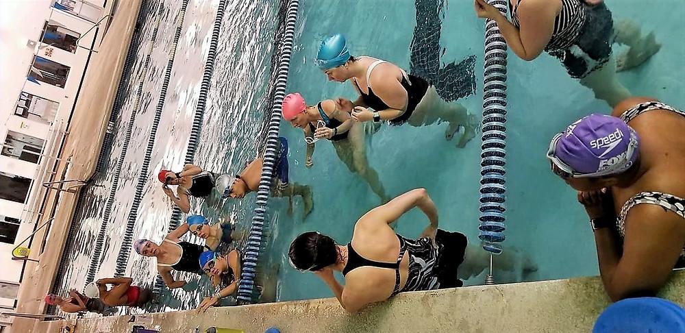 Tri Club Group Swim Training at YMCA Pool