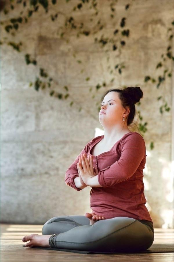Female Special Needs Athlete Mediating