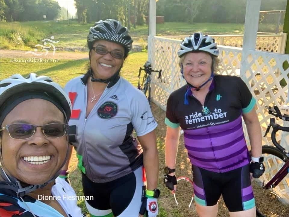 SwimBikeRunFun Women's Group Ride Cyclists