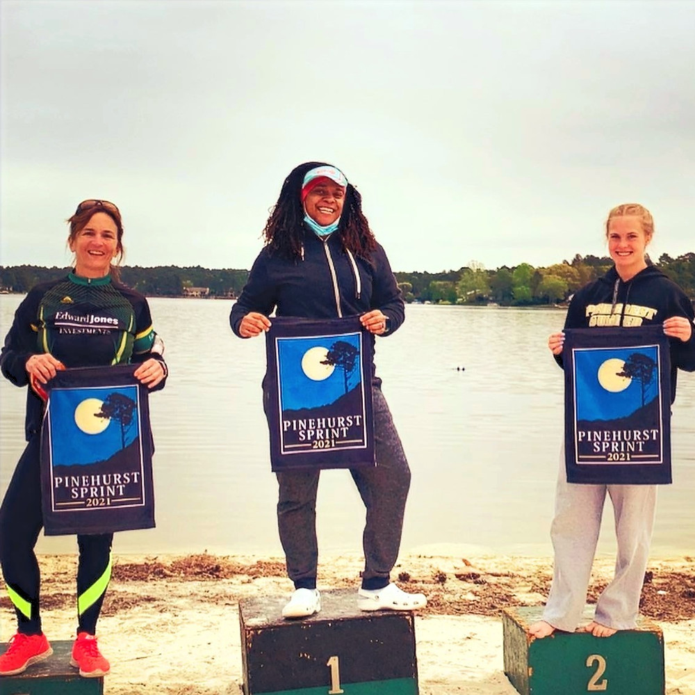 Pinecrest Triathlon AquaBike Female Podium Age Group Winners