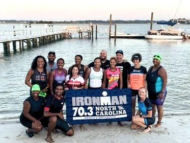 Ironman 70.3 North Carolina Black Triathletes and Swim Course Support