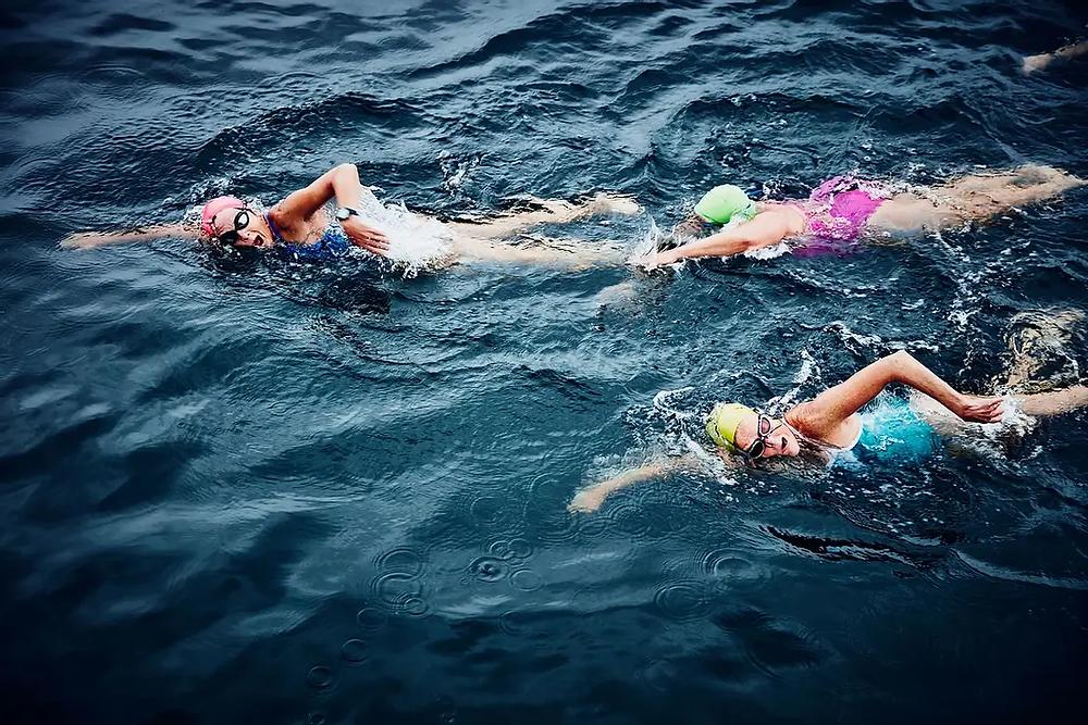 Swimmers  Triathlon Training in open water