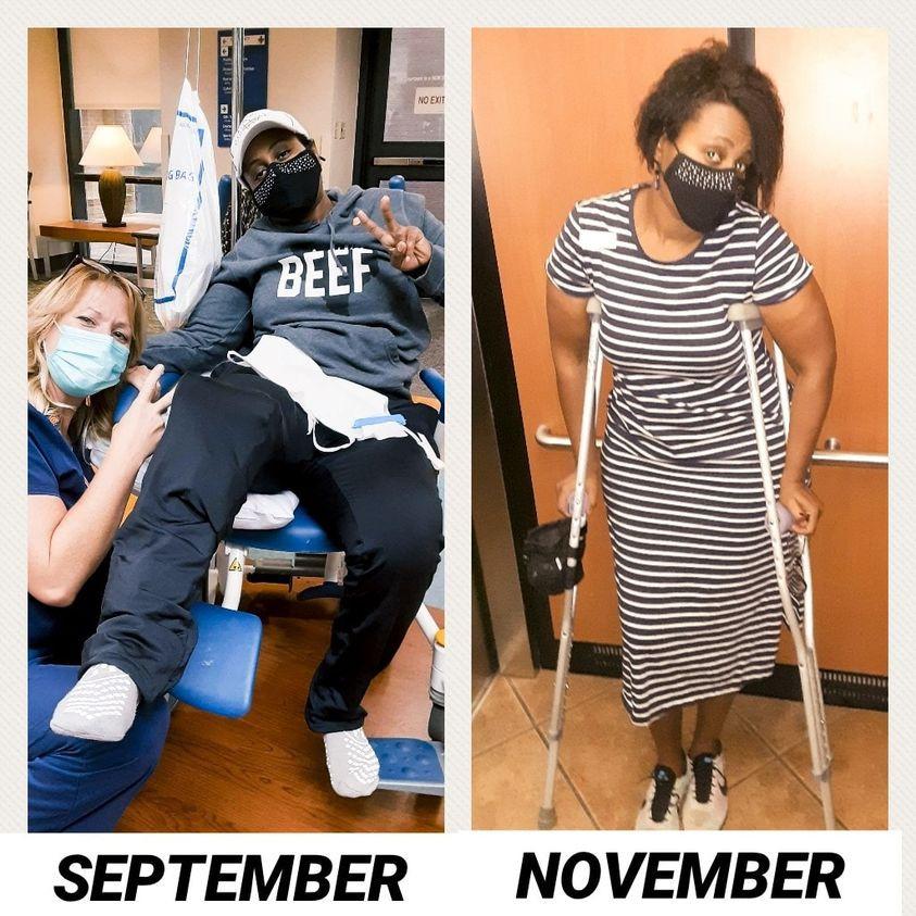 Injured Runner/Cyclist/Triathlete in wheelchair  & on crutches