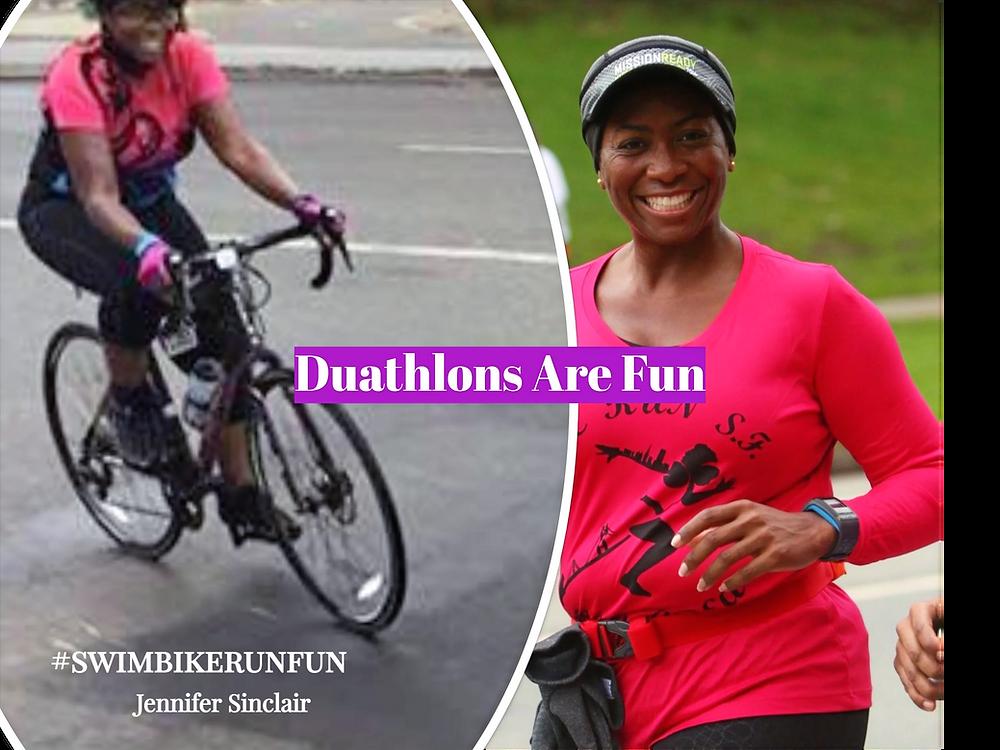 Duathlete Enjoy Biking & Running