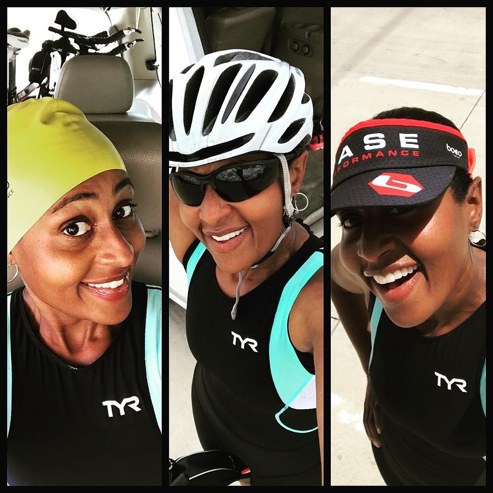 Black Female Triathlete Triathlon Training