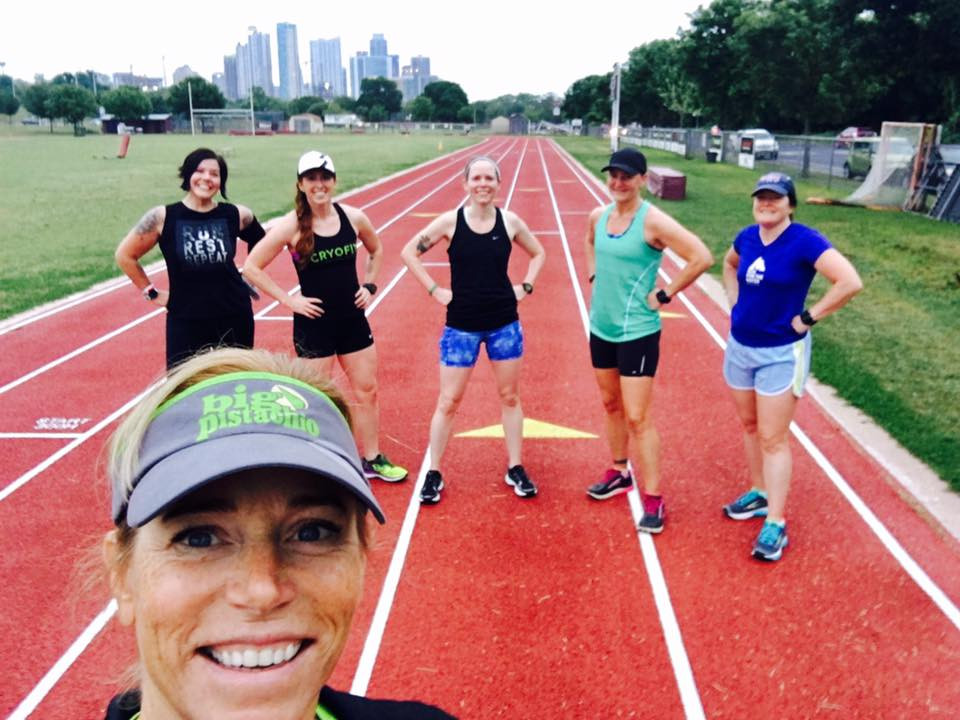 Big Pistachio Coach Erin and Athletes Doing Speed Work at the Rack