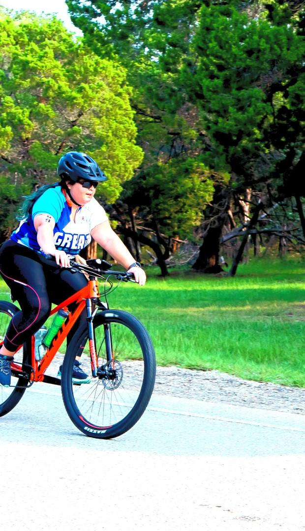 Female Relay Cyclist Triathlon