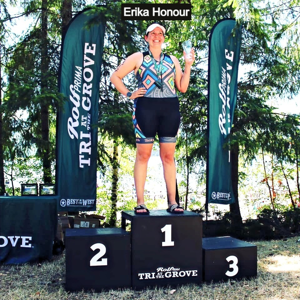 SwimBikeRunFun Athena Triathlete Podium