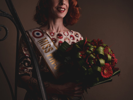 """Audrey Alias """"Bambi Freckles's"""" Miss Pin-Up France 2021"""