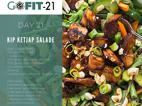 GOFIT-21   Kip ketjap salade