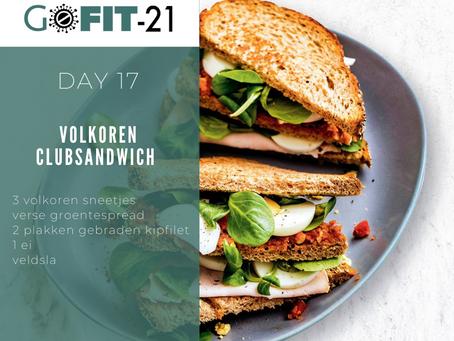 GOFIT-21   Volkoren clubsandwich