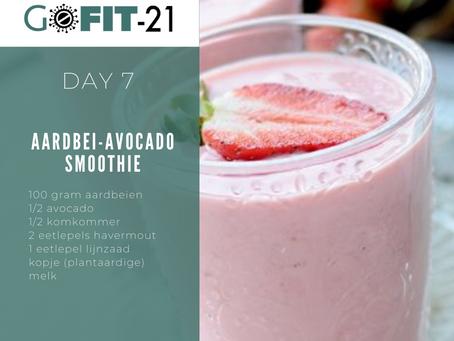 GOFIT-21   DAY 7 - Aardbei avocado smoothie