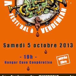 Flyer Vents dans les Vignes 2013 / Recto