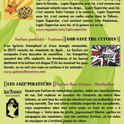 Flyer Vents dans les Vignes 2012 / Verso