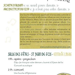 Flyer soirée 2012 / Verso