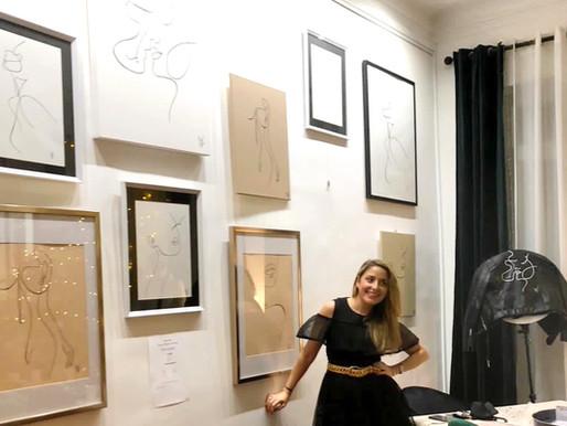 - VERNISSAGE Galerie d'art X              Valerie Sabban Illustration -