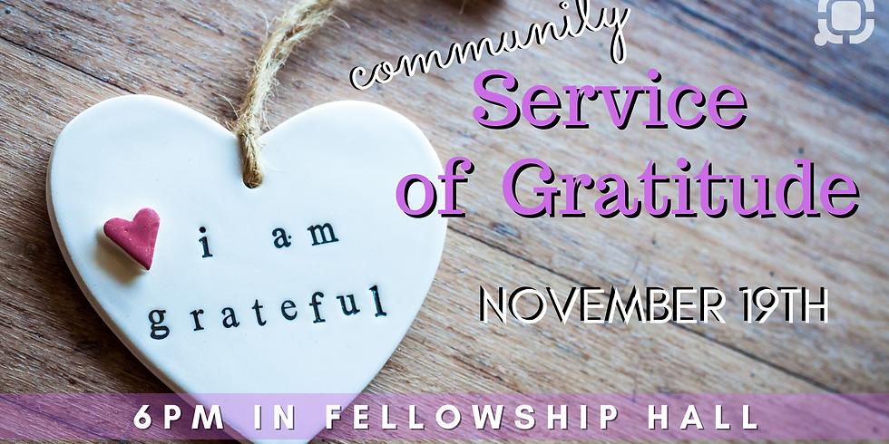 Community Service of Gratitude
