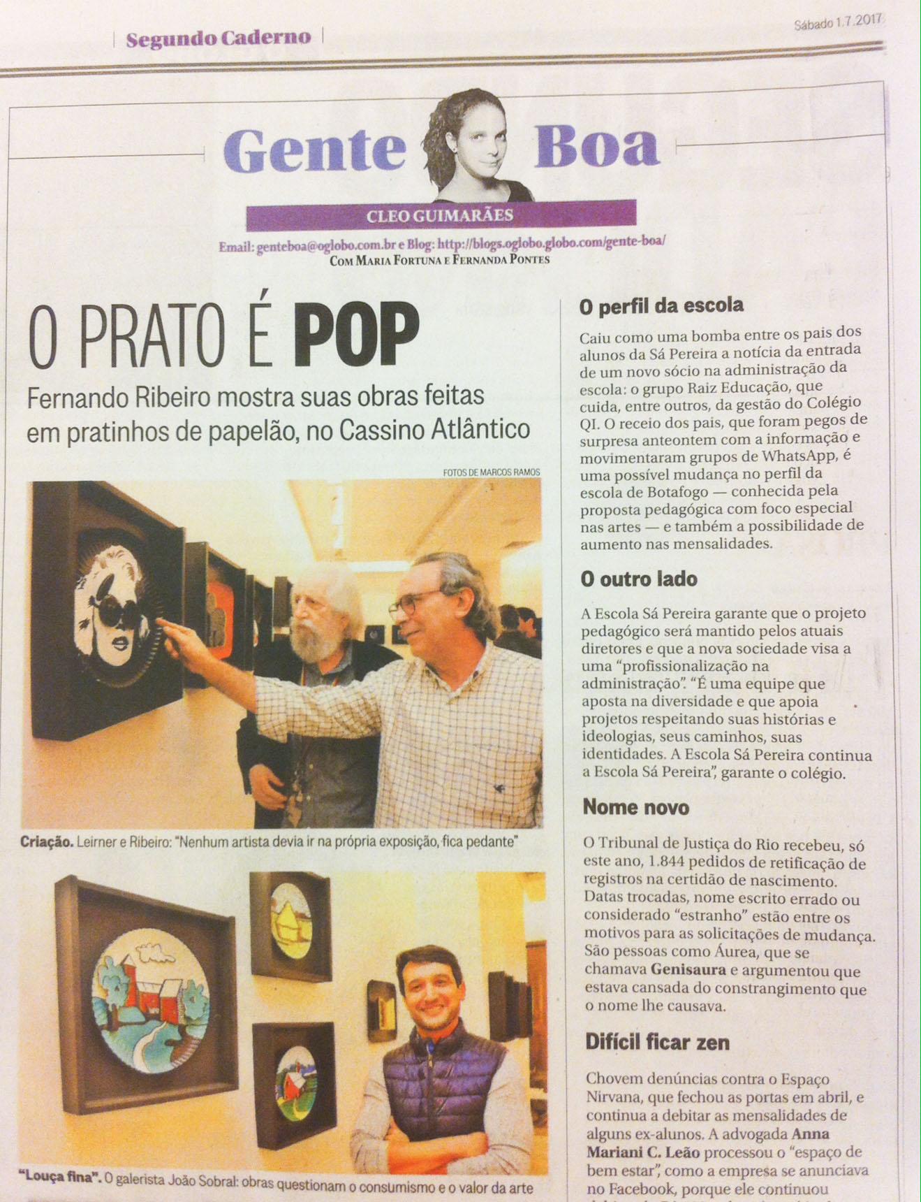 Coluna Gente Boa - Segundo Caderno 1.007.2017