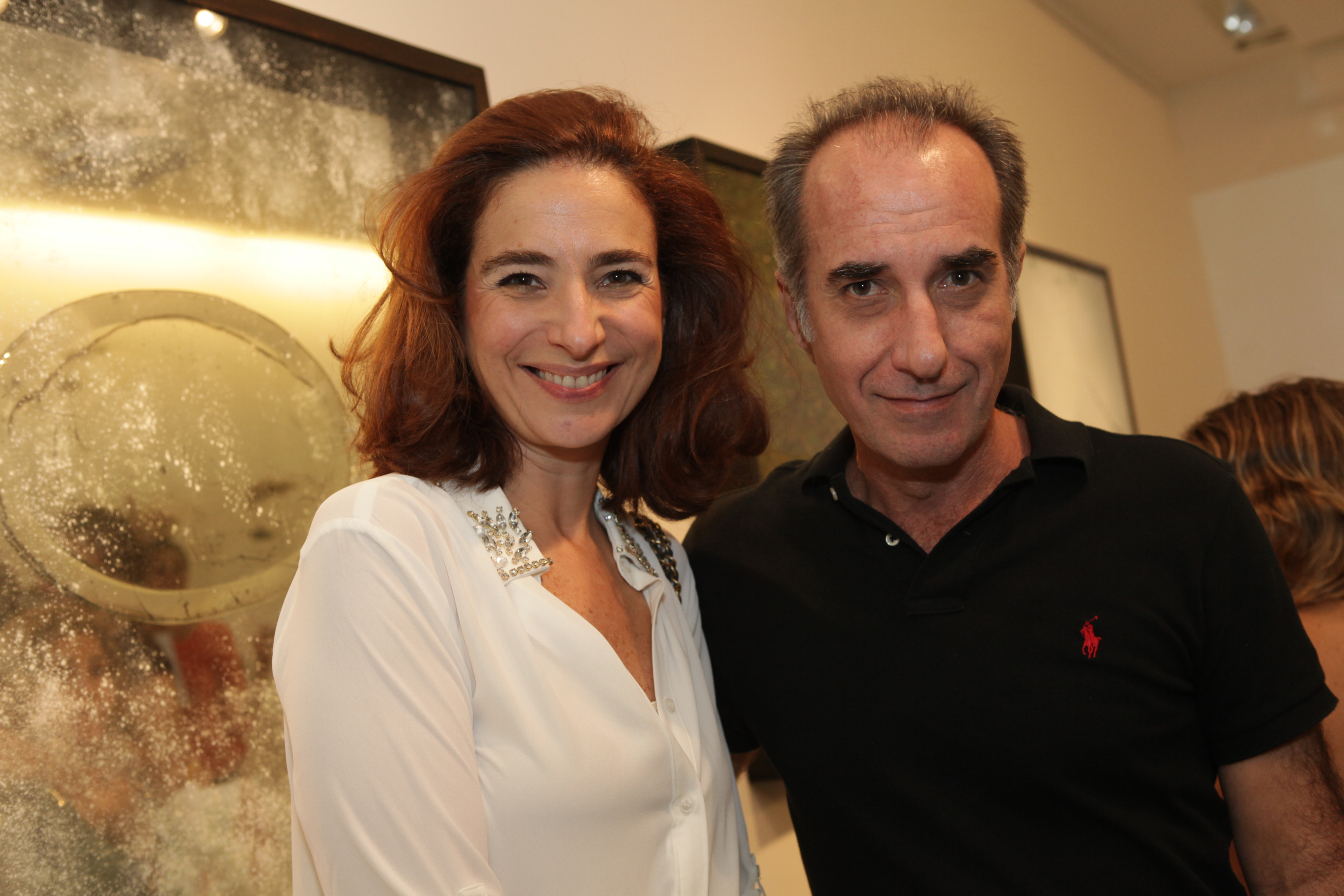 Expo Ricardo Becker 2012-Cisco Voce Nao Ve-Anna Protasio e Ricardo Becker que expos na Tramas