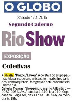 O Globo_Segundo Caderno_17_01_15_Tramas Galeria