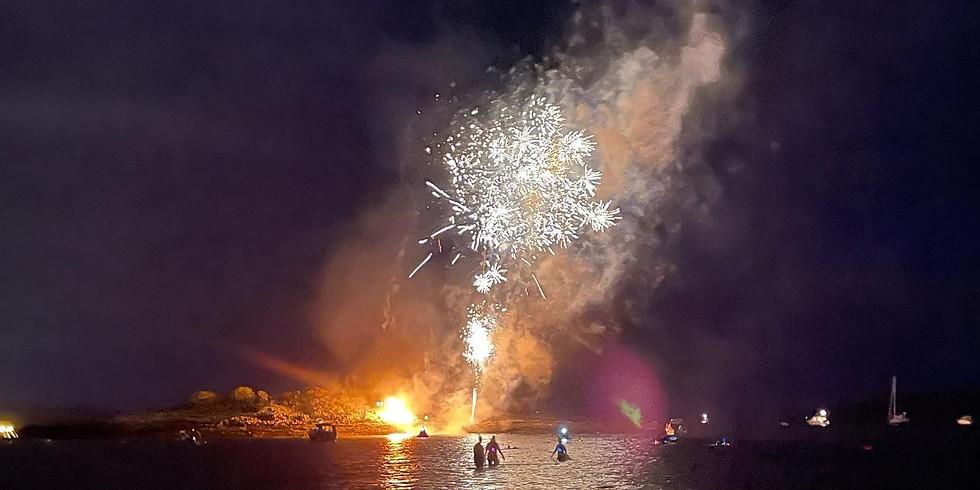 Fireworks Night Swim