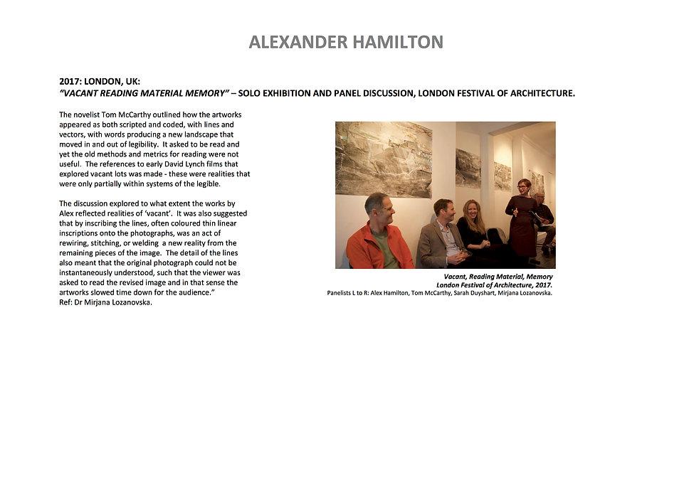 11 Alex Hamilton full CV September  2020