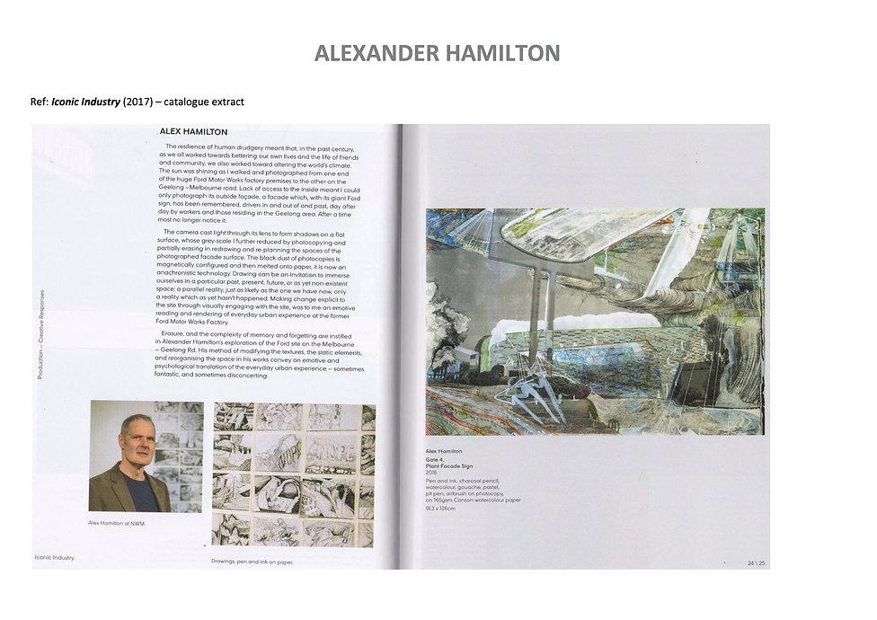 20 Alex Hamilton full CV September  2020