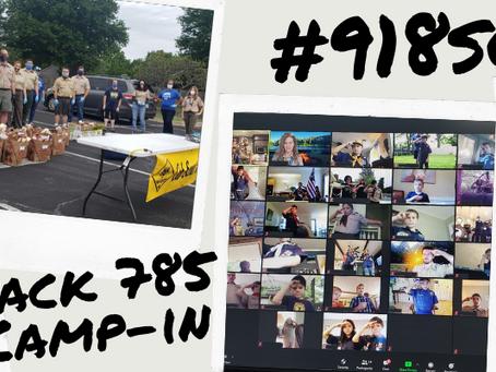 Pack 785 Spring Camp-In Success