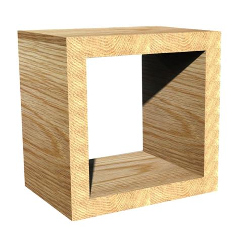 SQUARE BOX BEDSIDE TABLE HWC15