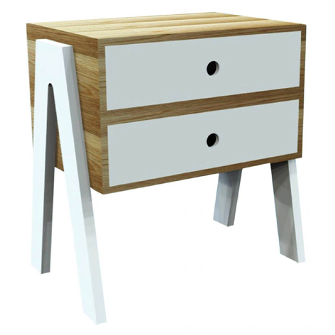 BOX-LEG DRAWER BEDSIDE TABLE HWC14