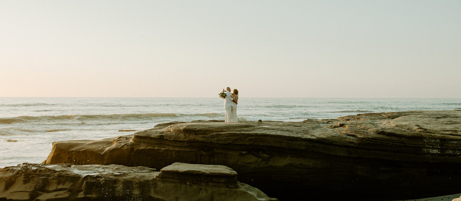 Intimate San Diego Beach Wedding - Windansea Beach