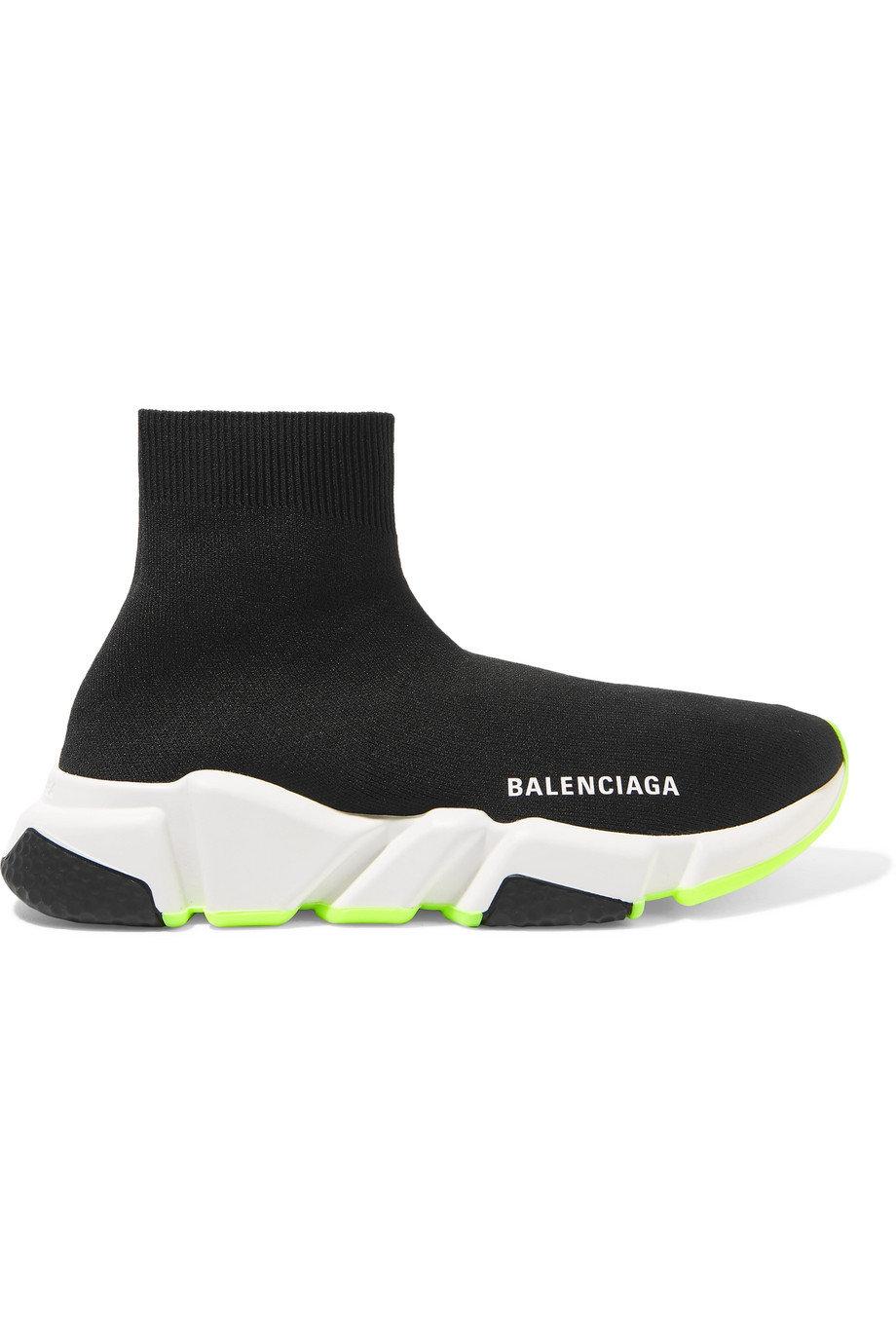 cheap for sale 100% high quality sale retailer Balenciaga Speed Trainer green sole