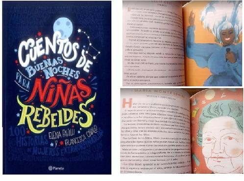 Cuentos Buenas Noches Niñas rebeldes 1  Libros Replica Color Alta ca