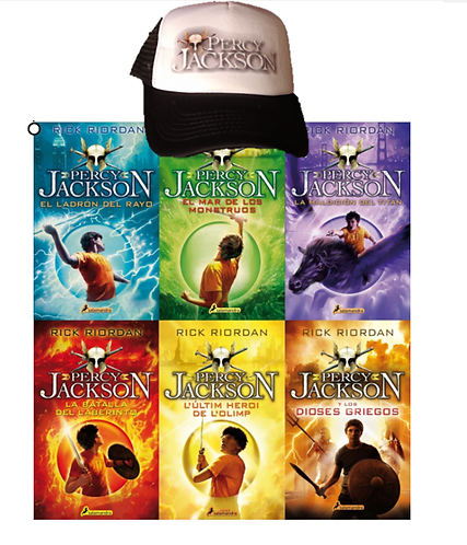 Coleccion Percy Jackson primera x 6 Libros Rick Riordan Gratis Gorra Percy