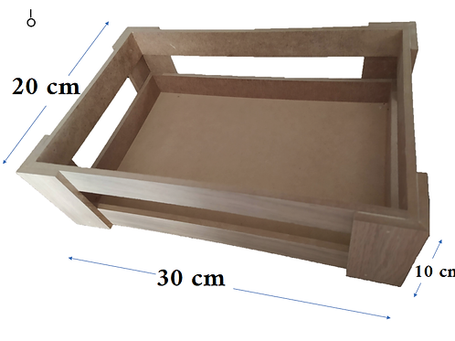 Huacal Rectangular MDF 30x20x10 cm