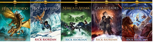 Coleccion Percy Jackson Dioses Del Olimpo  x 5 Libros Rick Riordan