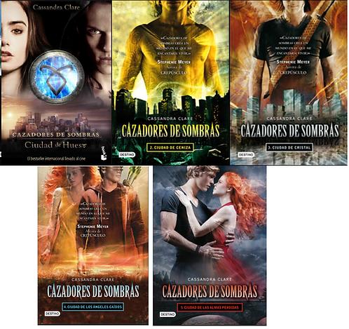 Coleccion Cazadores De Sombras x 5 libros Saga Cassandra Clare