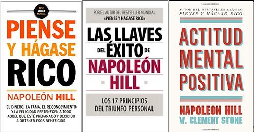 Colección Napoleón Hill x 3 libros