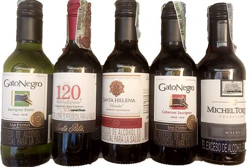 Botellita De Vino Tinto O Vino Blanco - Tinto  187.5 ML
