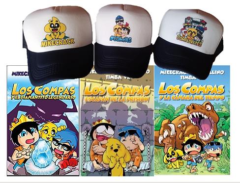 Colección Los Compas libros  1 - 2 - 3  Full Color Mikecrack Cachucha Compas